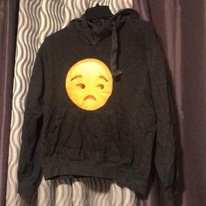 Other - Hooded emoji sweatshirt